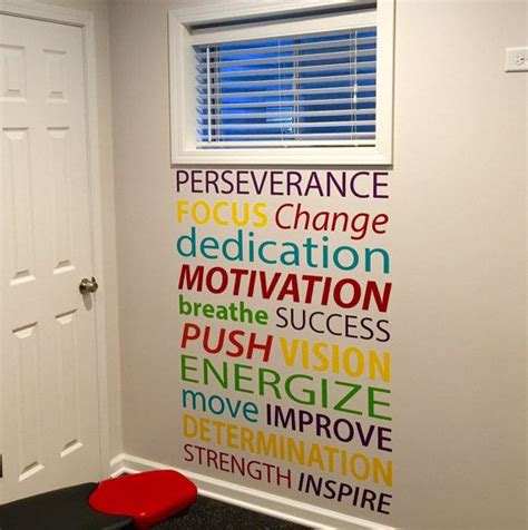 motivational quote wall decal office decor decor