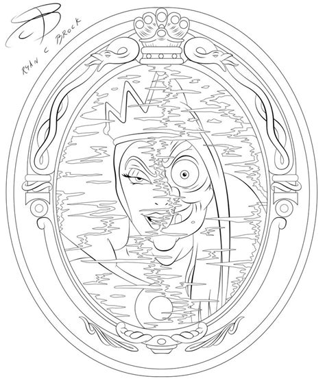 evil queen coloring page coloring pages evil queen by rcbrock on deviantart
