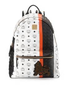 Mcm munich lion backpack in white for men save 41 lyst
