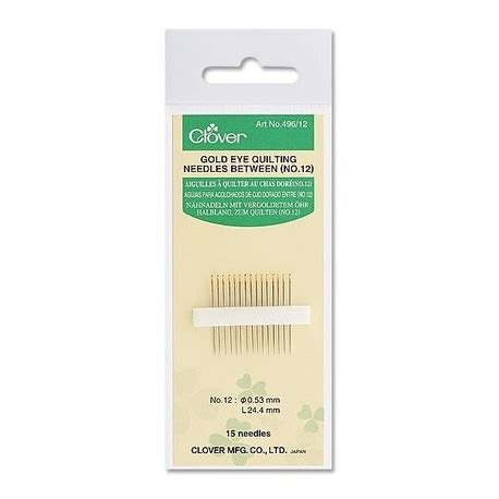 Quilting Needle by Gold Eye Quilting Clover