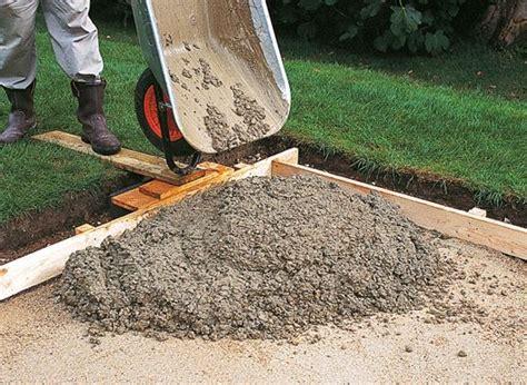 plan  concrete path patio  driveway ideas