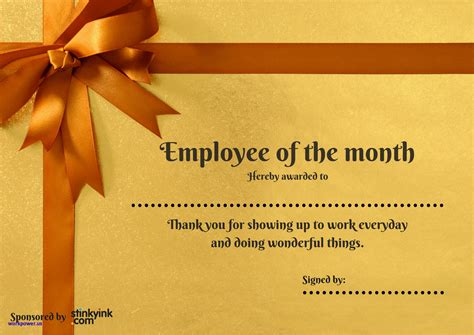 employee of the month powerpoint template employee of the month certificate template luxury employee