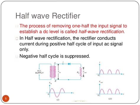 rectifier diode discussion presentation on half and wave ractifier ppt
