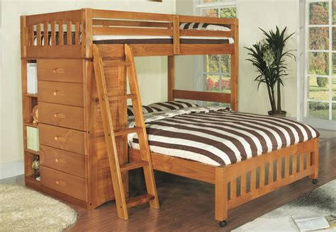 twin or full bed discovery world furniture twin over full honey loft bunk