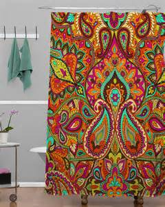 Paisley Shower Curtains Deny Paisley Shower Curtain