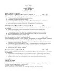 sle hr coordinator resume