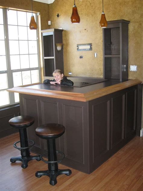 Custom Kegerator Cabinet by A Living Room And Dining Room Area Were Combined To Create
