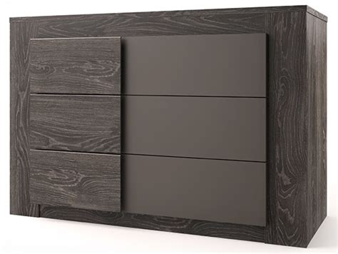 commode gris anthracite commode 3 tiroirs lodge chene anthracite gris mat
