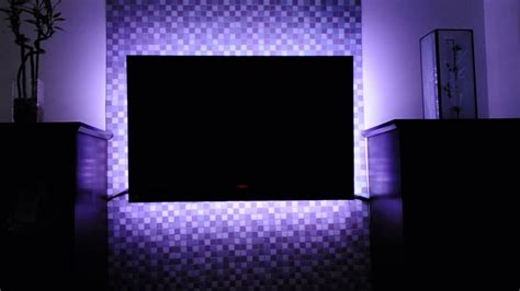 ambient light behind tv led tv backlighting multicolored led light kit with