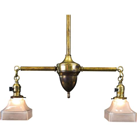 Period American Arts And Crafts Brass Two Light Fixture Period Lighting Fixtures