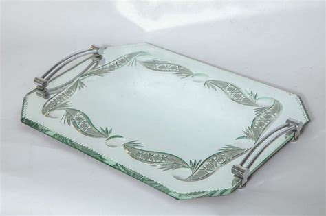 mirrored bathroom tray french mirrored vanity tray at 1stdibs