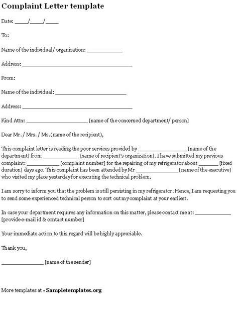 Parent Grievance Letter complaint letter template form complaint letter form