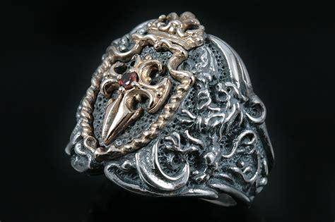 Ring 037 Silver austrian shield cross sterling silver ring mr 037
