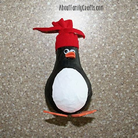 How To Make A Paper Mache Penguin - how to make a paper mache penguin about family crafts