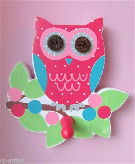 owl accessories for bedroom owl door wall hook pink bnwt bedroom accessory