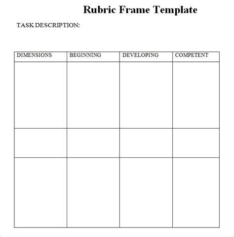 Blank Rubric Template Rubric Template Free Premium Templates Free Rubric Template