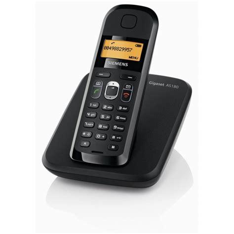 Siemens Gigaset AS180 noir   Téléphone fixe sans fil   iris.ma Maroc
