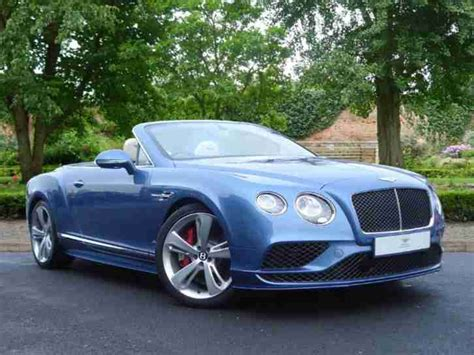 blue bentley 2016 bentley 2016 16 continental gtc 4 0 v8 s auto car for sale