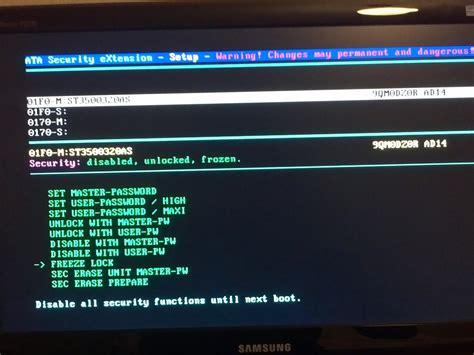 Asus Laptop Ami Bios Password Reset adding the ata security extension bios to amibios asus p5kc vxlabs