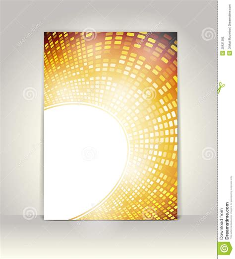 flyer or brochure template stock vector image of