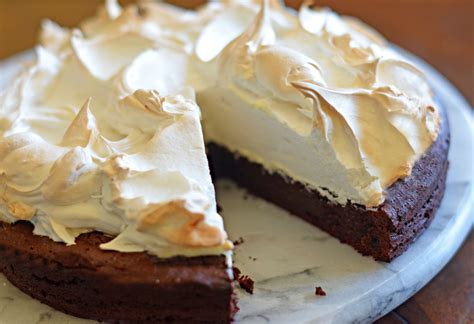 flourless chocolate cake with meringue topping once upon a chef