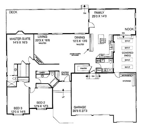 3 bedroom bungalow floor plan 3 bedroom house plans