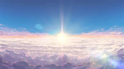 Kaos Kimi No Na Wa Your Name Sky Hobiku Anime Store your name anime clouds sky s wallpaper 14857