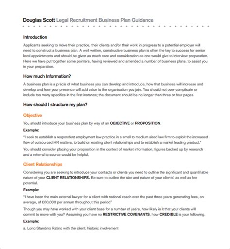 recruitment business plan template free recruitment business plan sle nonprofit cover letters