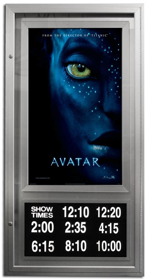 showtime lumina series poster cases  theater