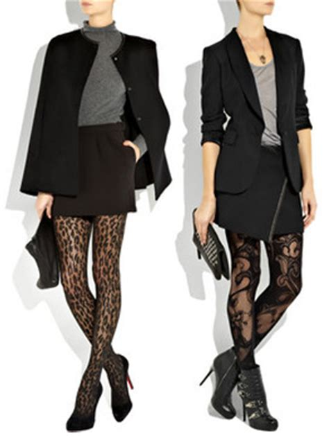 patterned tights how to wear fall fashion trend printed tights stushigal style
