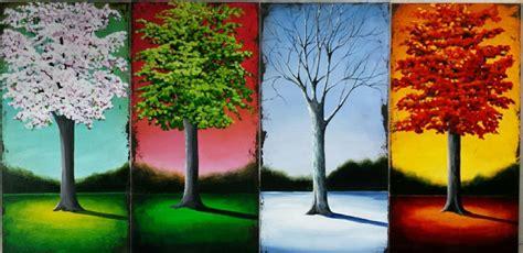 Painting 4 Seasons by Tina Palmer Original Paintings For Sale