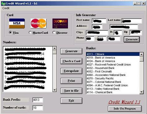 Sle Credit Card Generator Credit Card Generator 4 0