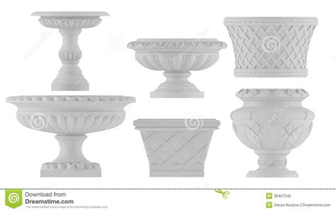 architectural decorative element vase royalty free stock