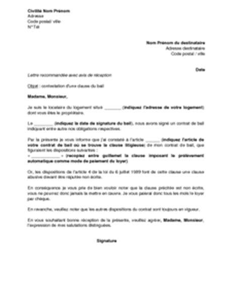 modele lettre opposition prelevement banque postale