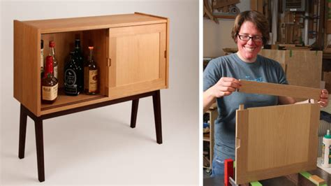 woodworking plans liquor cabinet mid century credenza finewoodworking
