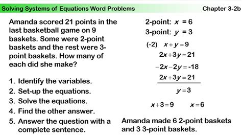 Systems Of Equations Word Problems Worksheet Answers by Oct 16 Oct 23 Algebra With Mr Petry