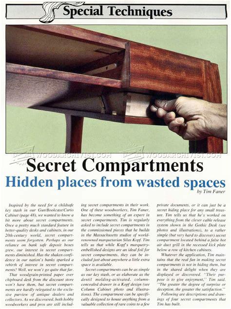 secret compartment furniture woodarchivist