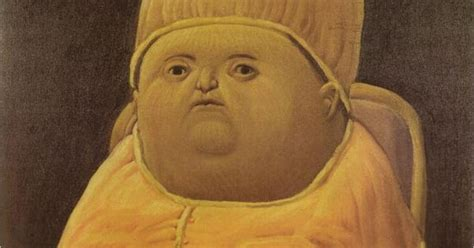Painting Y Tho by Fernando Botero Pope Leo X After Raphael 1964 It S