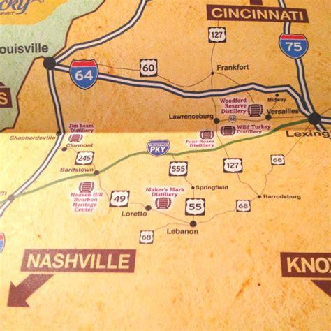 map kentucky bourbon trail kentucky bourbon trail map swimnova