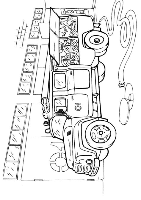 Top Firefighter Coloring Pages Fire Department With Fire Department Coloring Pages
