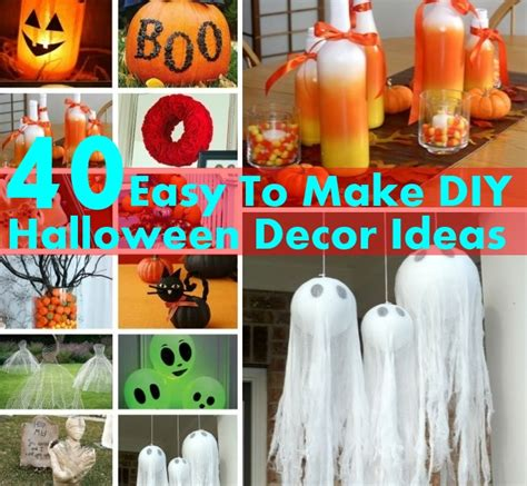 Easy Halloween Decorations To Make At Home | 40 easy to make diy halloween decor ideas diy home things