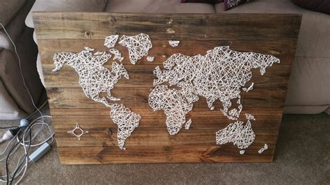 String World Map - world map in string i made with more than a thousand