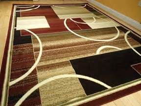 Modern Rug 8x10 Contemporary Rug Multi Colored Area Rugs 8x11 Rug 5x8 Rug Living Room Carpet 8x10 Burgundy