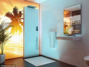 bathrooms set to become more hi tech in future mirror doctors that diagnose diseases and a robot beauty