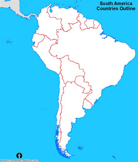 outline map of south america with countries free south america countries outline map countries