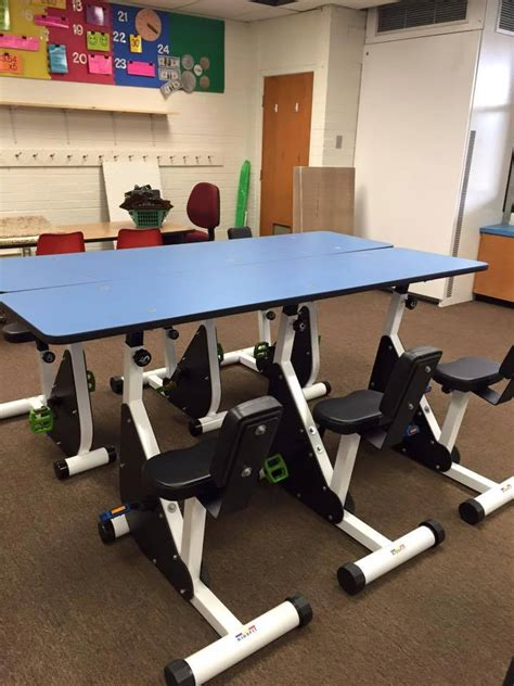 kinesthetic classroom pedal desks kc 39 6 person pedal desk