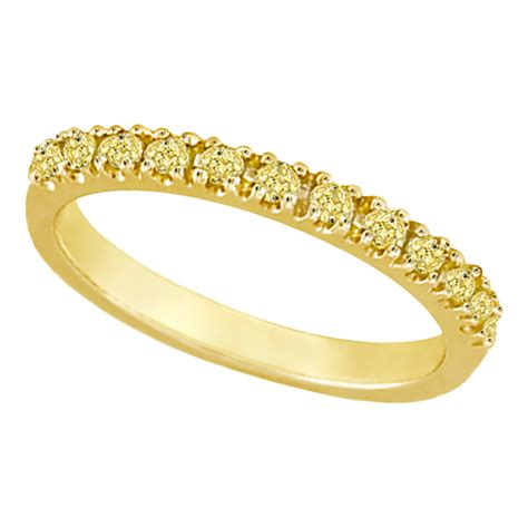 yellow canary stackable ring band 14k yellow gold