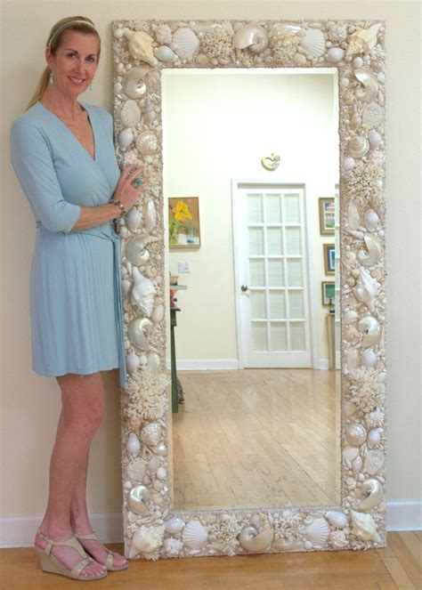 shell bathroom mirror all white and cream sea shell mirror 6 x 3 www