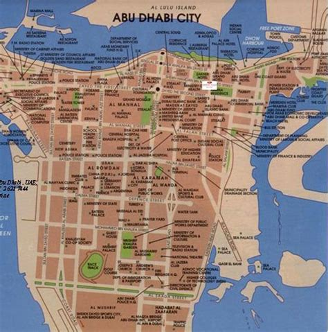 printable abu dhabi road map maps street map abu dhabi