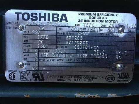 toshiba motor serial number lookup bertylorganic